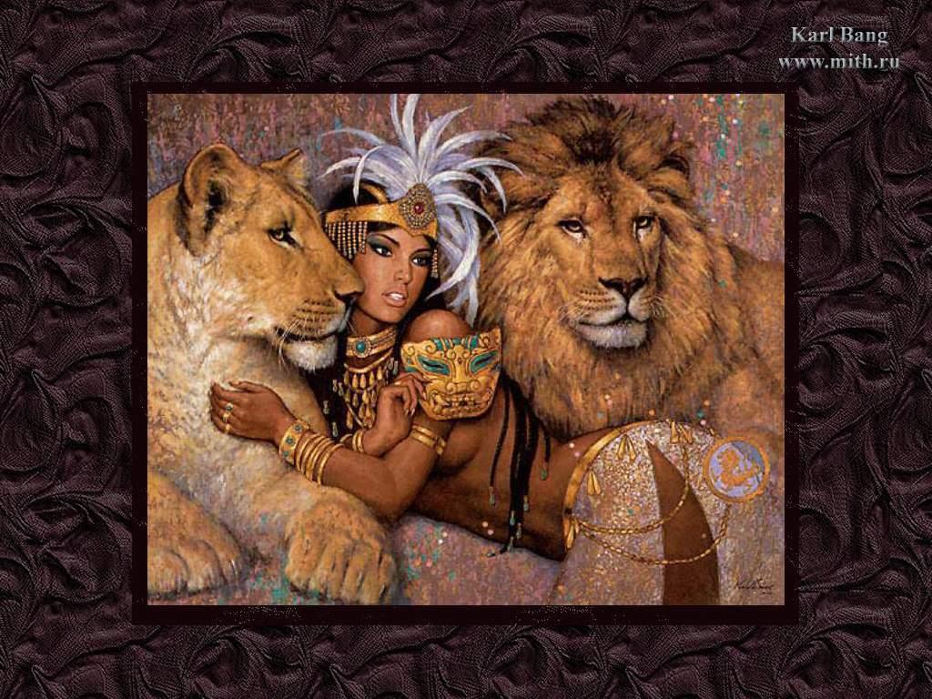Алмазная вышивка клеопатра с леопардами 59